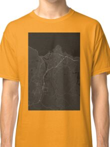 Trondheim, Norway Map. (White on black) Classic T-Shirt