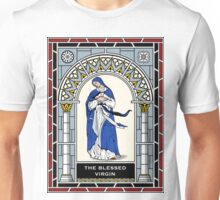 BLESSED VIRGIN STAINED GLASS Unisex T-Shirt