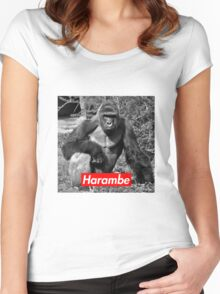 Harambe - Supreme Logo - Picture 2 Women's Fitted Scoop T-Shirt