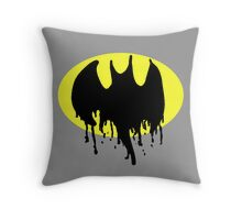 Bat Drips Throw Pillow