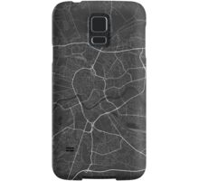 Krakow, Poland Map. (White on black) Samsung Galaxy Case/Skin