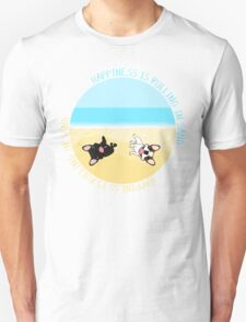 French Bulldogs Rolling In Sand Unisex T-Shirt