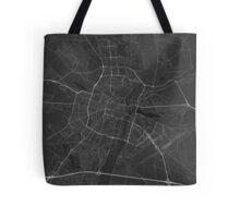 Poznan, Poland Map. (White on black) Tote Bag