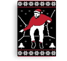 Hotline bling Ugly Christmas Sweaters Canvas Print