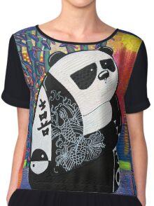 Panda Zen Master Chiffon Top