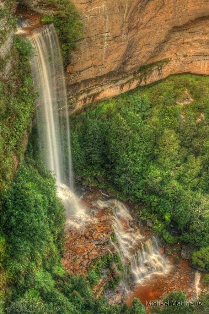 Katoomba Falls from the lookout by Michael Matthews