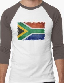 National flag of the Republic of South Africa Men's Baseball ¾ T-Shirt