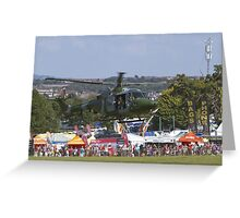 Bristol Balloon Fiesta Lyns Mk 7 Helicopter Greeting Card