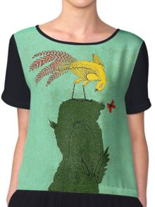 Mythical bird on Mountain top Women's Chiffon Top