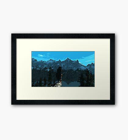 Beauty of Skyrim Framed Print