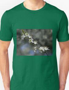 white flowers in spring Unisex T-Shirt
