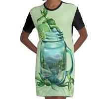 Drink Deep Graphic T-Shirt Dress