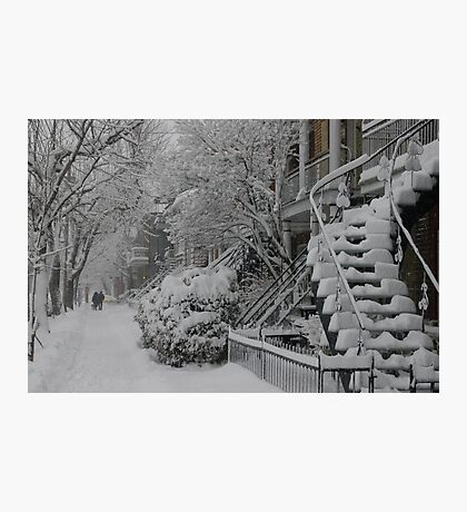 Montreal Snow Winter Scene Photographic Print