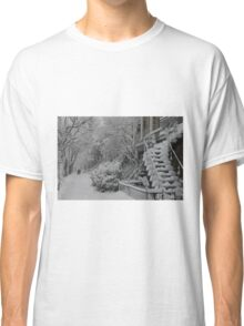 Montreal Snow Winter Scene Classic T-Shirt