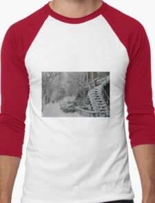 Montreal Snow Winter Scene Men's Baseball ¾ T-Shirt