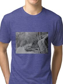 Montreal Snow Winter Scene Tri-blend T-Shirt