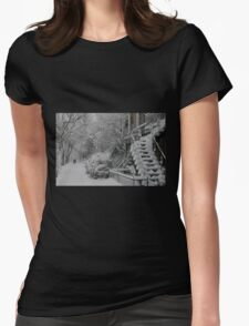 Montreal Snow Winter Scene Womens Fitted T-Shirt
