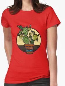 Cacti Family Womens Fitted T-Shirt