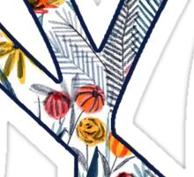 New York Yankees Floral Logo Sticker