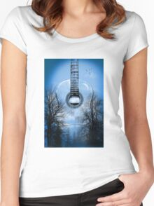 guitar nature  Women's Fitted Scoop T-Shirt