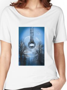 guitar nature  Women's Relaxed Fit T-Shirt
