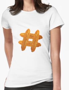 Hash(brown)tag Womens Fitted T-Shirt