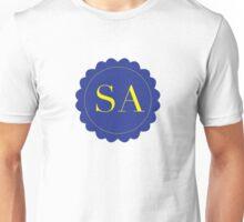 Initials SA - Blue and Yellow Unisex T-Shirt