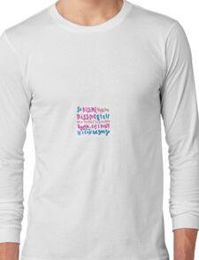kiss me kiss me lyric art Long Sleeve T-Shirt