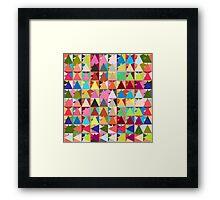 Throw Pillows geometric  Framed Print