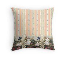 Bunnies Dreaming In Peach Throw Pillow