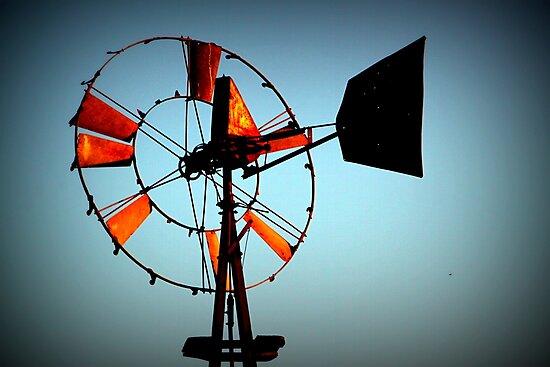 Rusty Windmill by amandameans