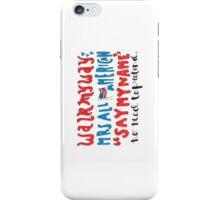mrs all american lyric art iPhone Case/Skin