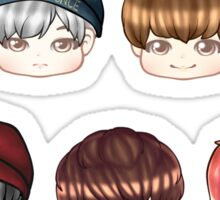 BTS Chibi Heads - OT7 Sticker