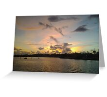 Sunset at Safety Harbor Pier, FL Greeting Card