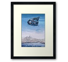 Bubbleship Framed Print