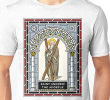 ST ANDREW THE APOSTLE under STAINED GLASS Unisex T-Shirt