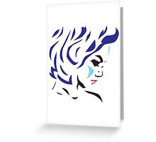 Pink in Blue Greeting Card