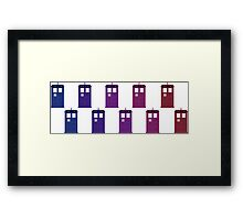 TARDIS Colour Flow Framed Print
