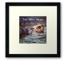 Otterly hilarious Framed Print