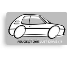 Peugeot 205  Canvas Print