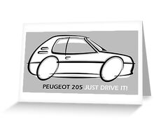 Peugeot 205  Greeting Card