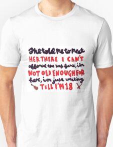 18 lyric art Unisex T-Shirt