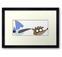 Mordecai and Rigby Pop Art Framed Print