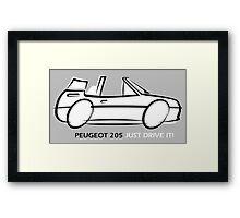 Peugeot 205 cabriolet Framed Print