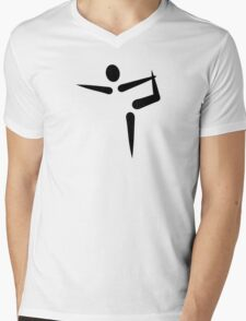 Yoga Gymnastics logo Mens V-Neck T-Shirt
