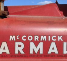 Vintage Farmall Tractor Detail Sticker