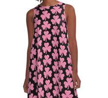 Pink Shamrocks A-Line Dress