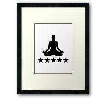 Yoga stars Framed Print
