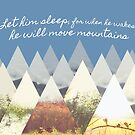 He Moves Mountains - Blue Horizontal by nannowandnext