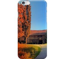 Traditional farm, rainbow colors light | architectural photography iPhone Case/Skin